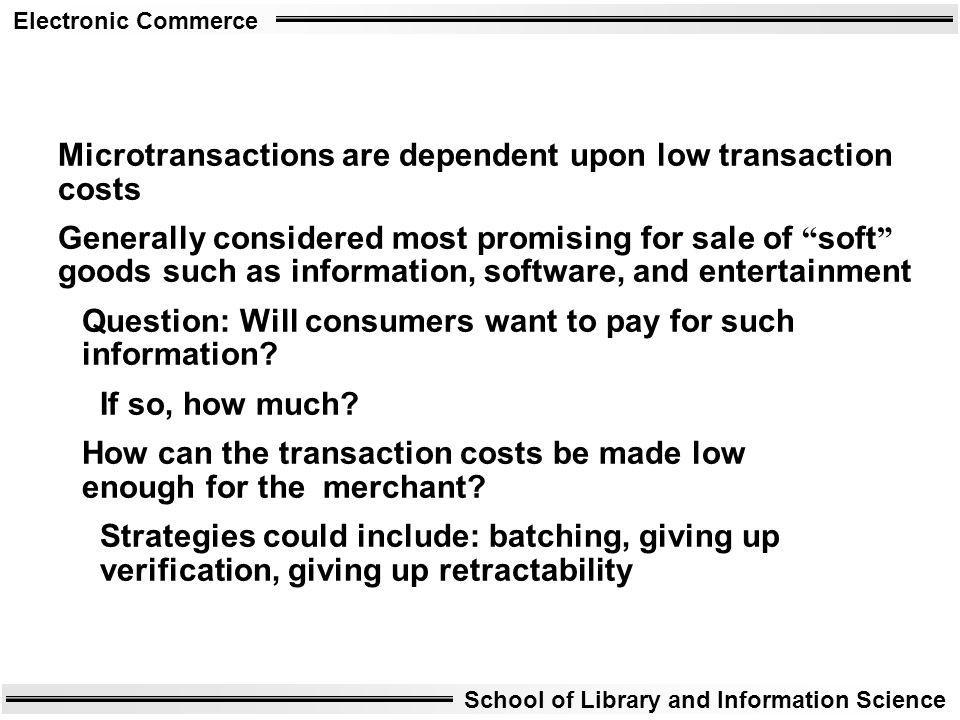 Microtransactions are dependent upon low transaction costs