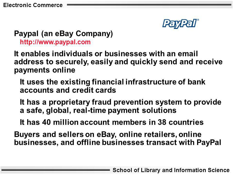 Paypal (an eBay Company) http://www.paypal.com