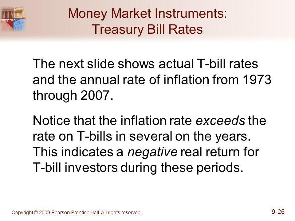 Money Market Instruments: Treasury Bill Rates