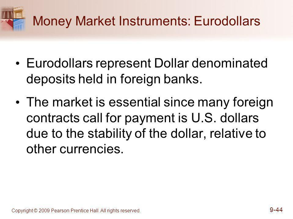 Money Market Instruments: Eurodollars