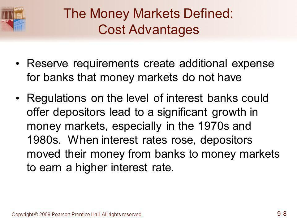 The Money Markets Defined: Cost Advantages