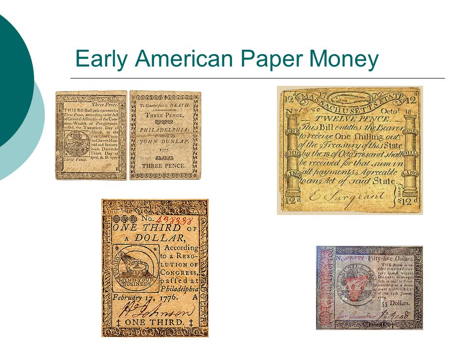 Early American Paper Money
