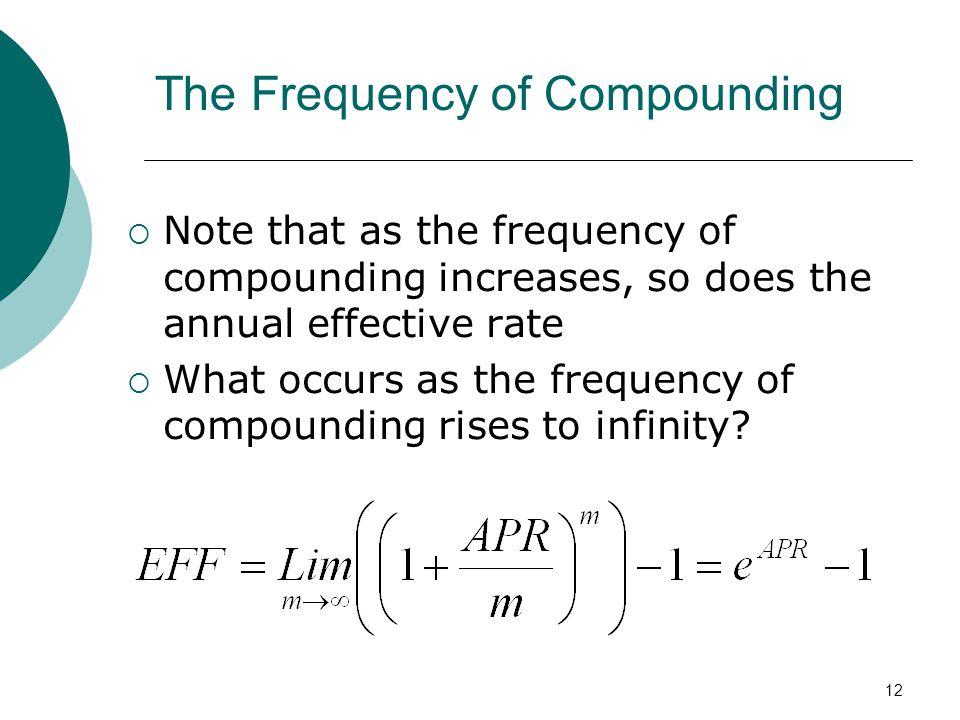 The Frequency of Compounding