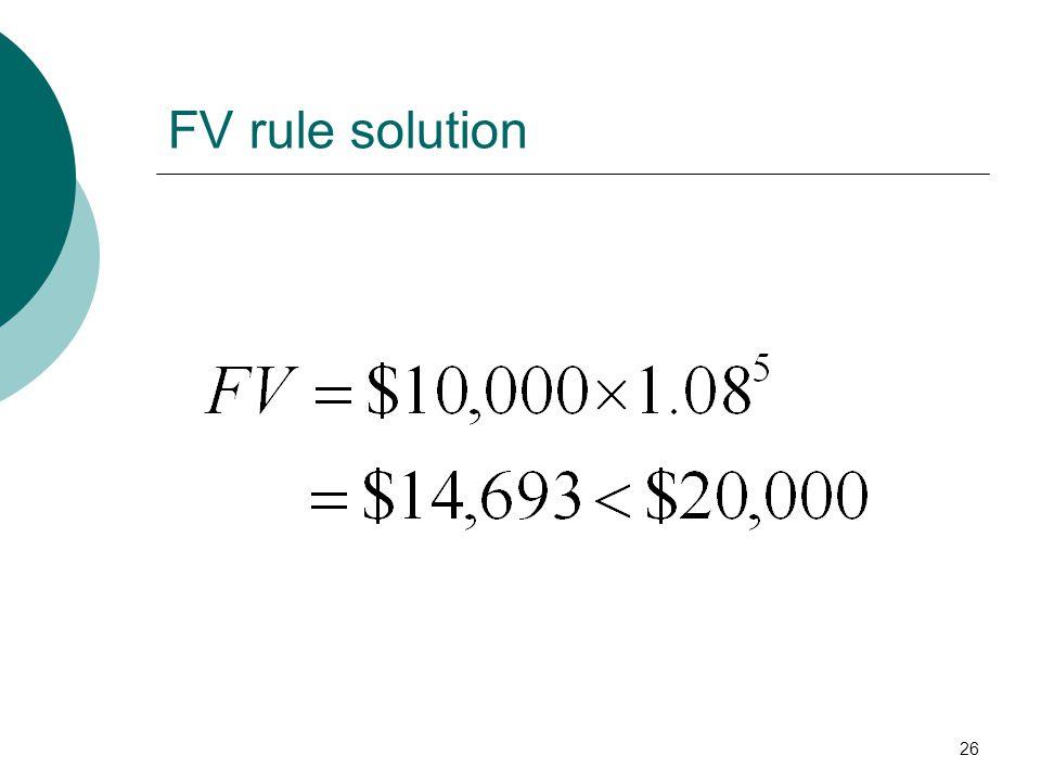 FV rule solution