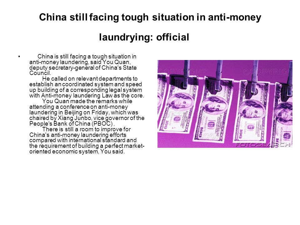 China still facing tough situation in anti-money laundrying: official