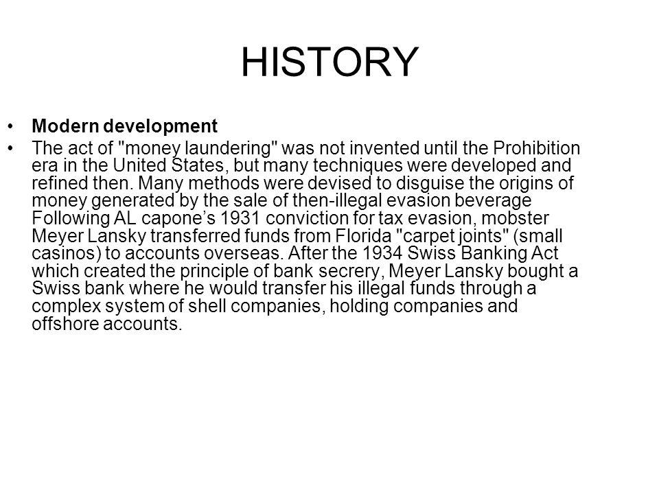 HISTORY Modern development