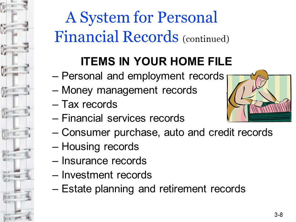 A System for Personal Financial Records (continued)