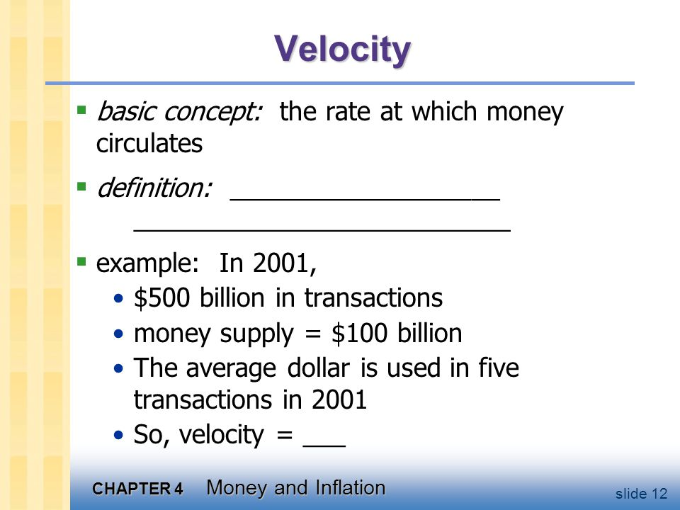 Velocity, cont. This suggests the following definition: where