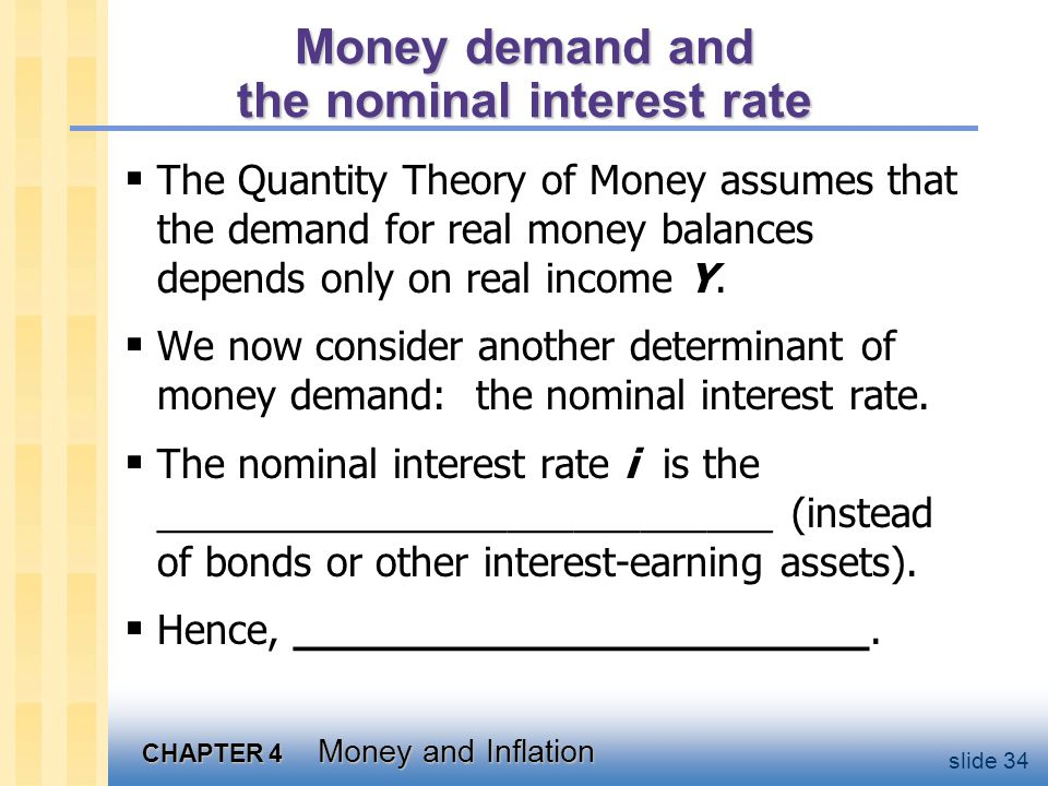 The money demand function