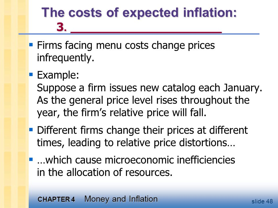The costs of expected inflation: 4. _________________