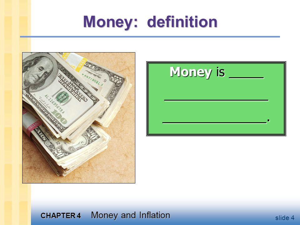 Money: functions _________________ we use it to buy stuff