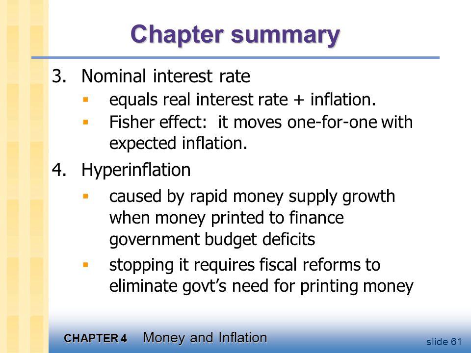Chapter summary 5. Classical dichotomy