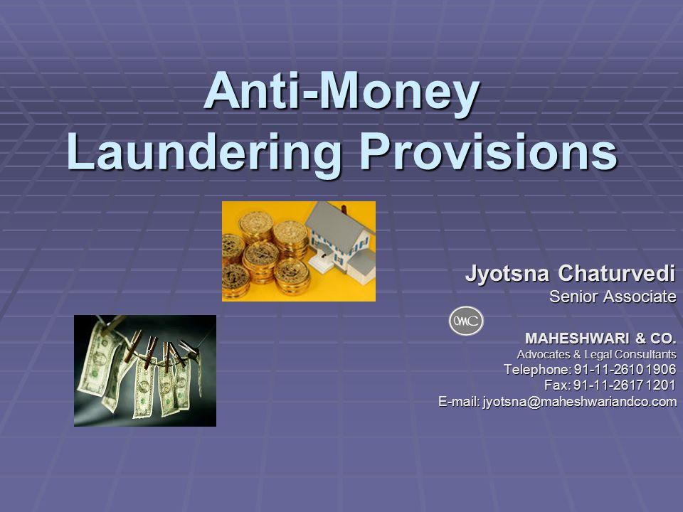 Anti-Money Laundering Provisions