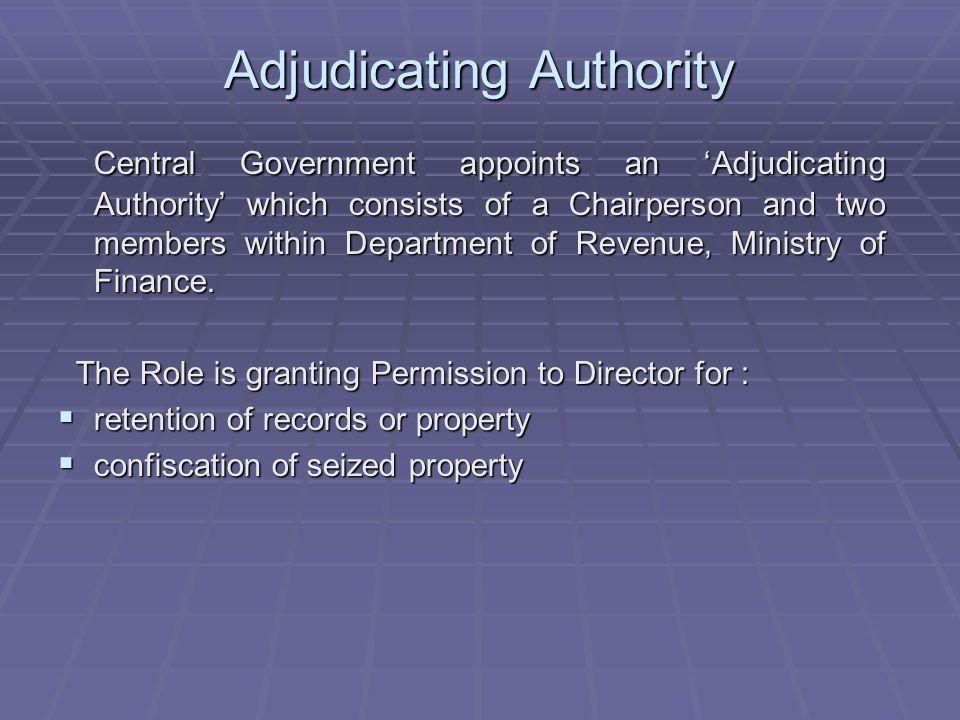 Adjudicating Authority