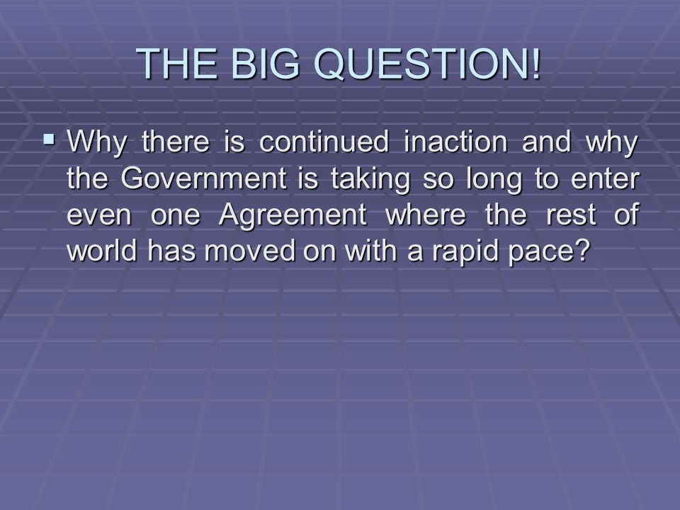 THE BIG QUESTION!