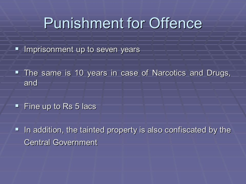 Punishment for Offence