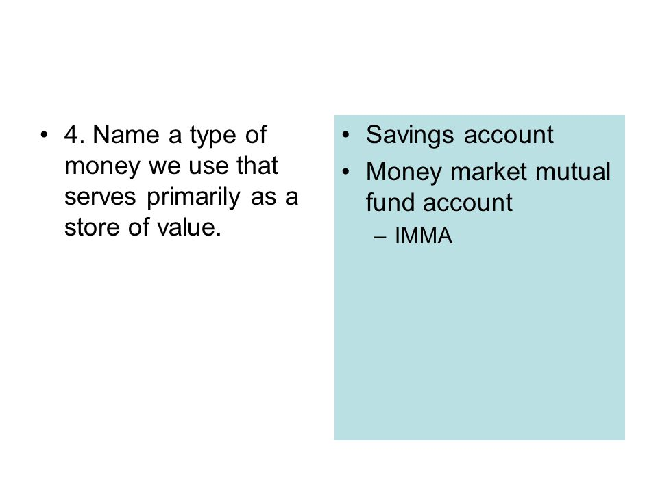 Money market mutual fund account