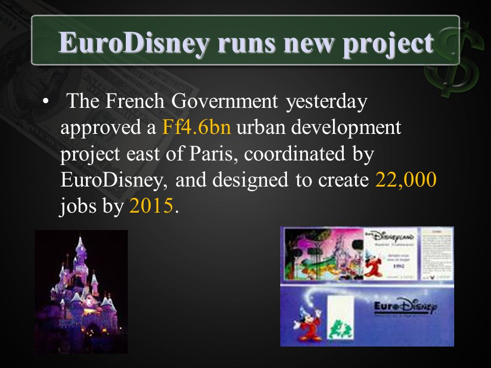 EuroDisney runs new project