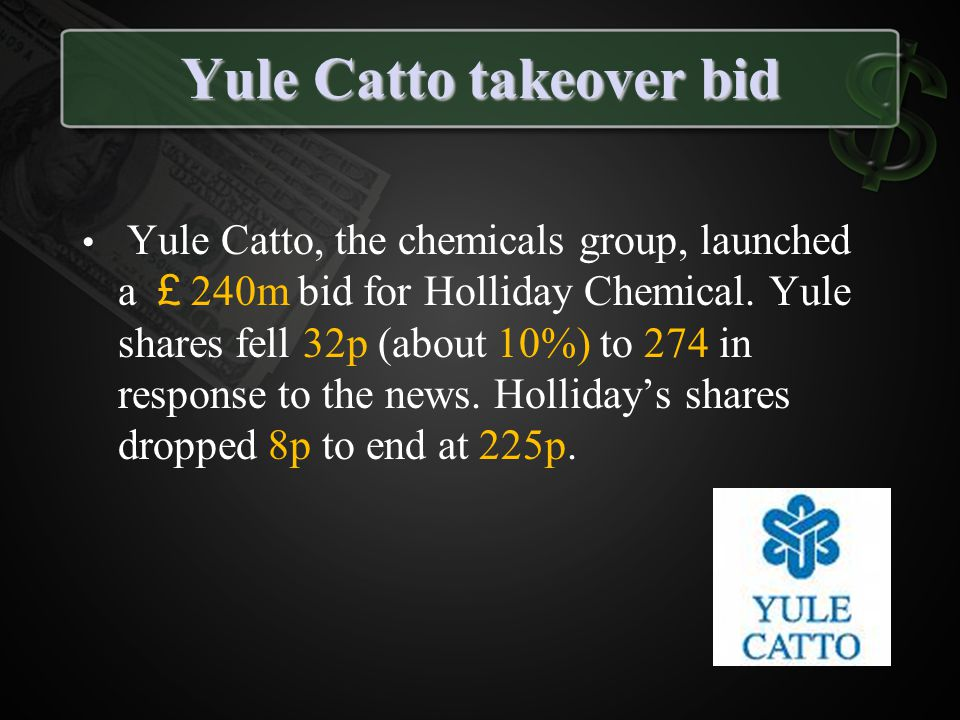 Yule Catto takeover bid