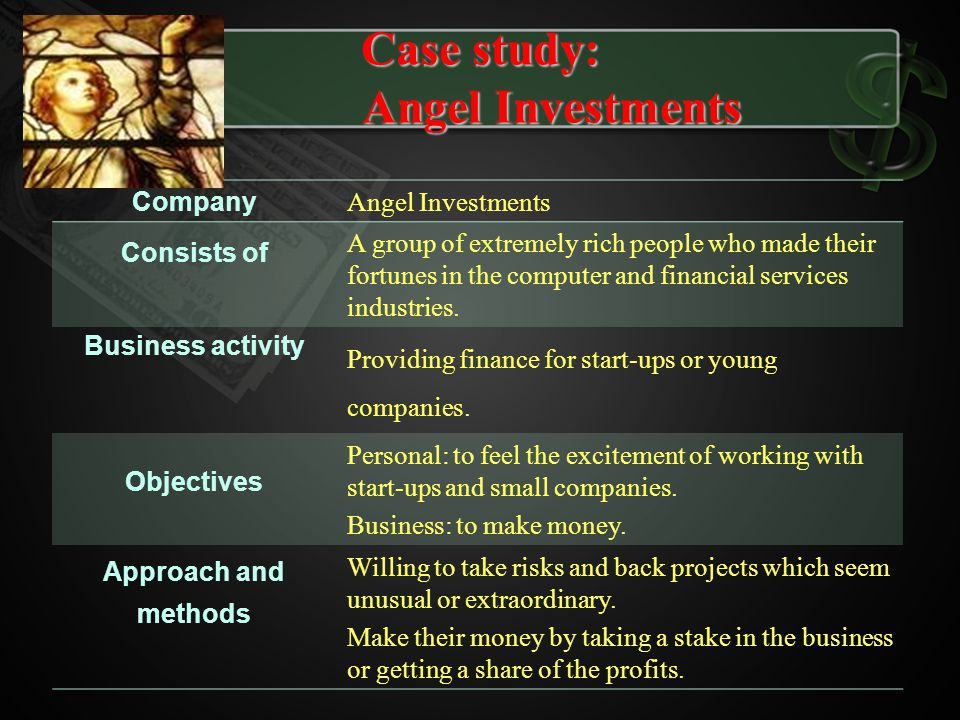 Case study: Angel Investments