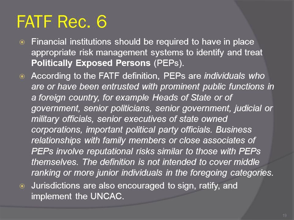 FATF Rec. 6