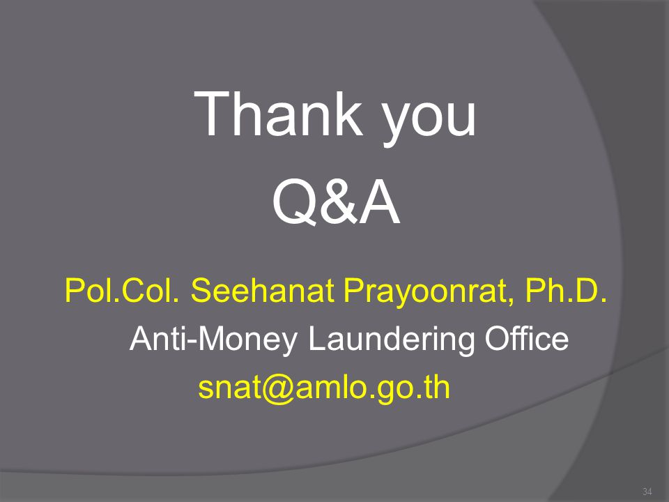 Thank you Q&A Pol.Col. Seehanat Prayoonrat, Ph.D.