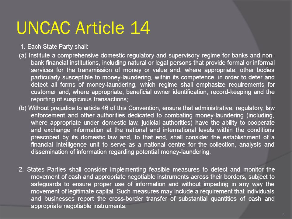 UNCAC Article 14