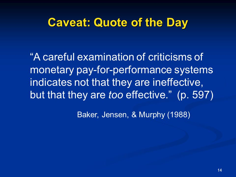 Caveat: Quote of the Day