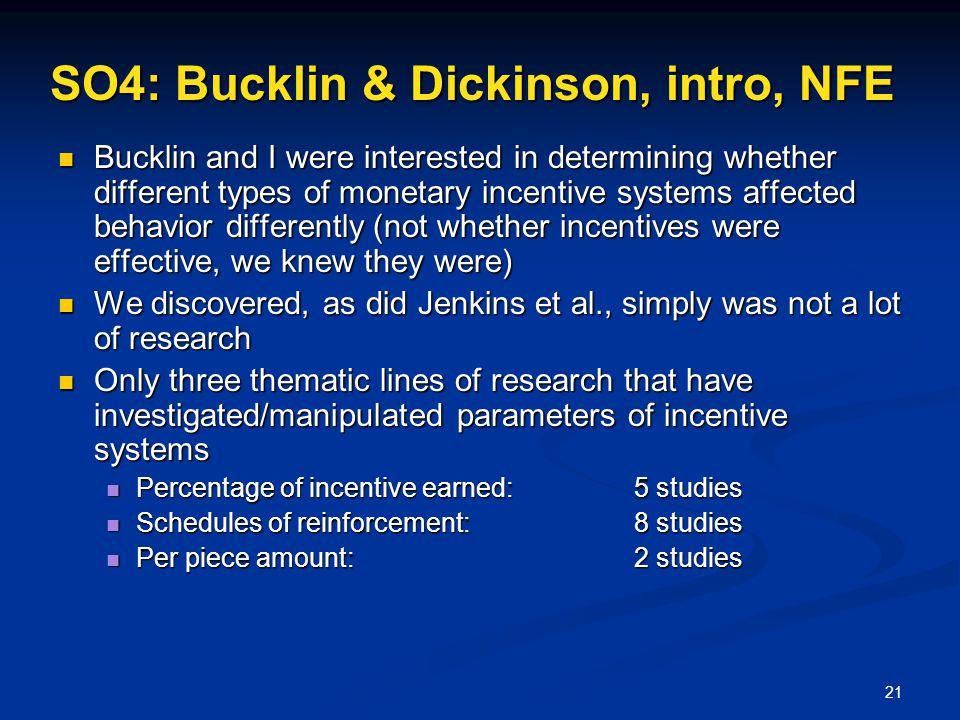 SO4: Bucklin & Dickinson, intro, NFE