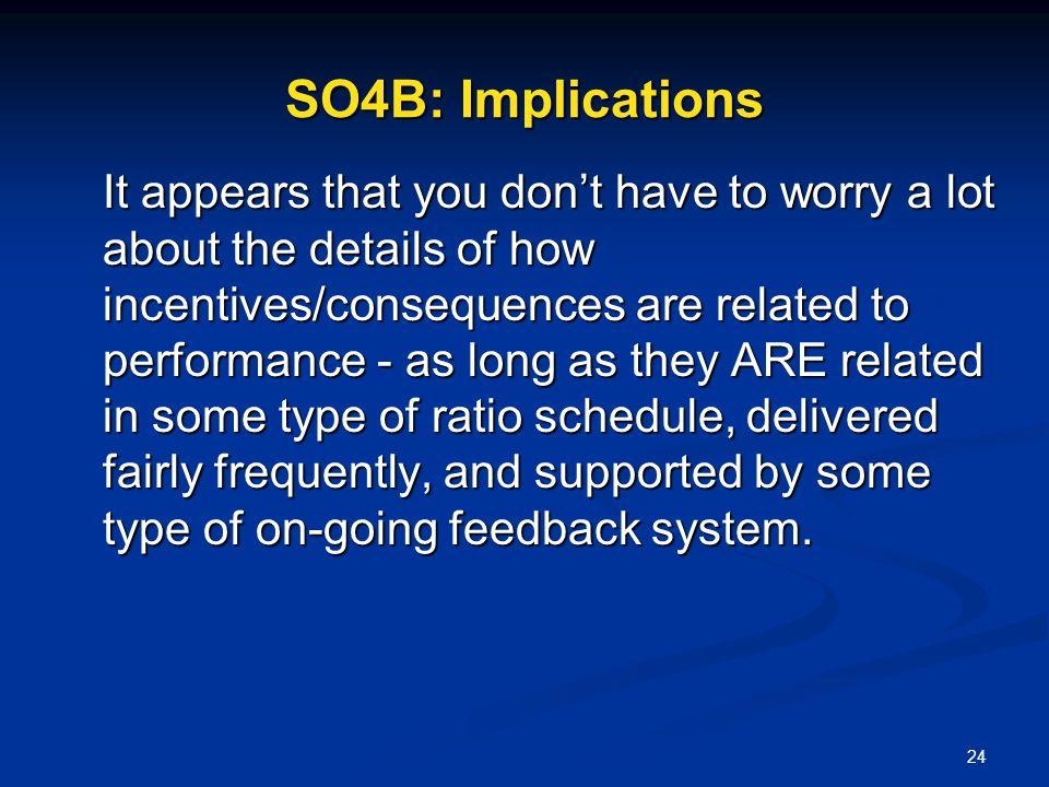 SO4B: Implications
