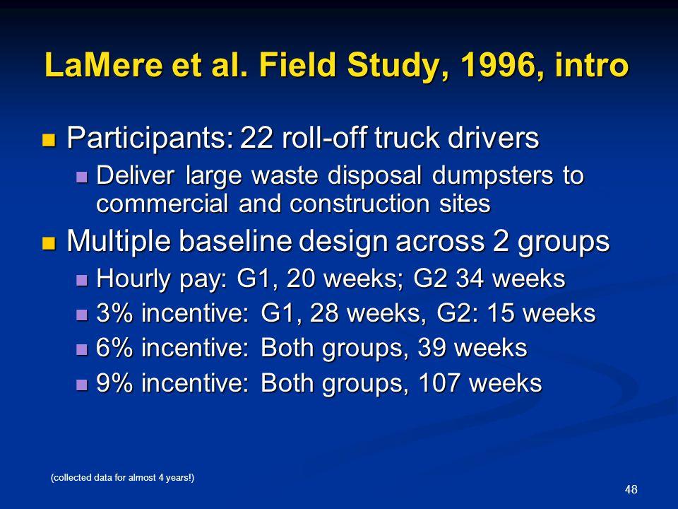 LaMere et al. Field Study, 1996, intro