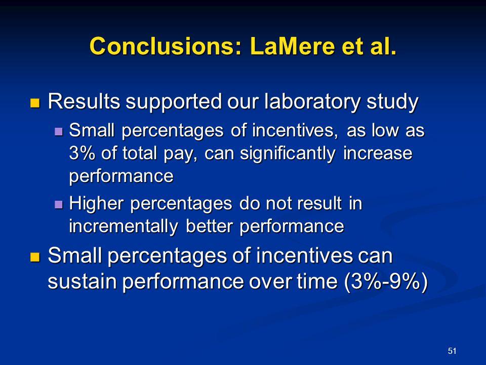 Conclusions: LaMere et al.