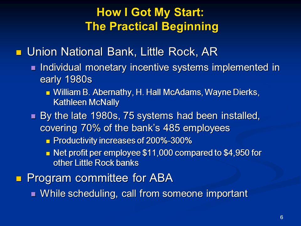 How I Got My Start: The Practical Beginning