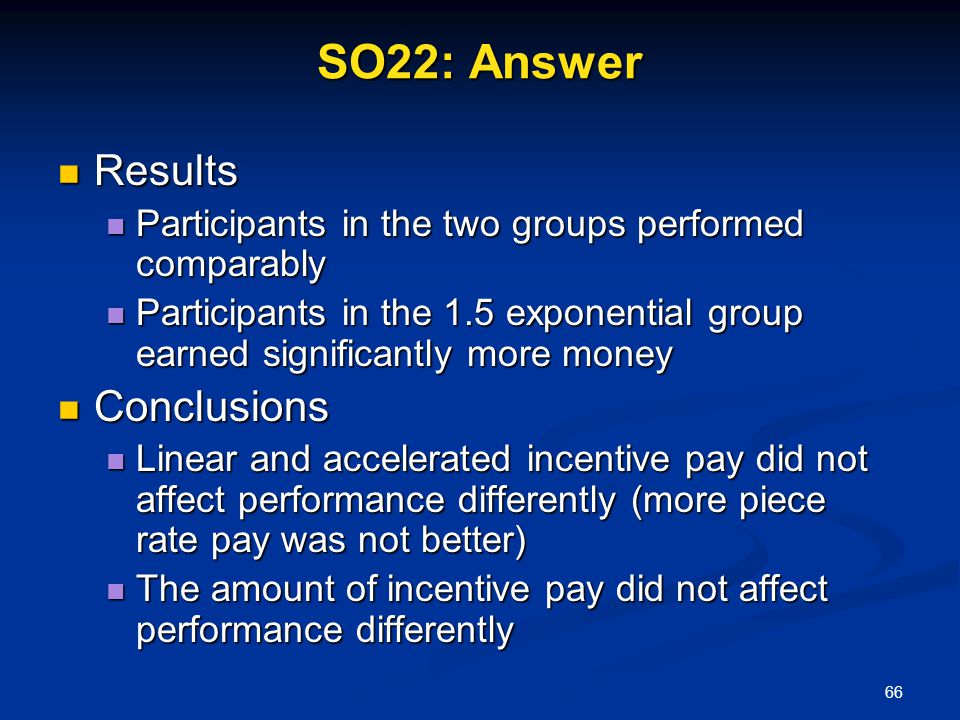 SO22: Answer Results Conclusions