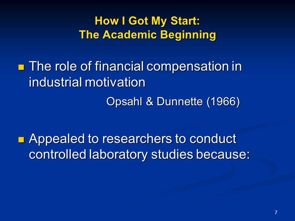 How I Got My Start: The Academic Beginning