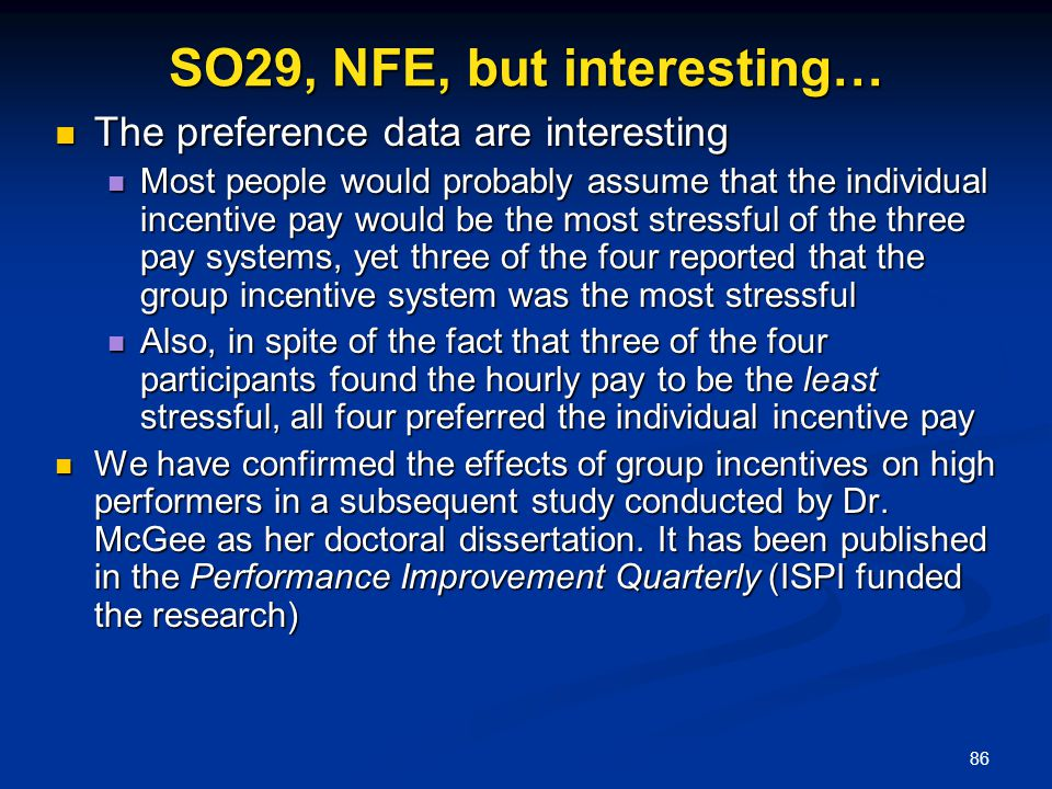 SO29, NFE, but interesting…