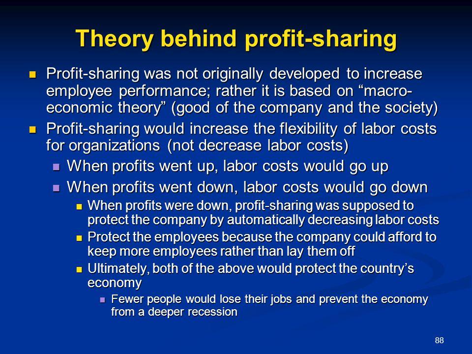 Theory behind profit-sharing