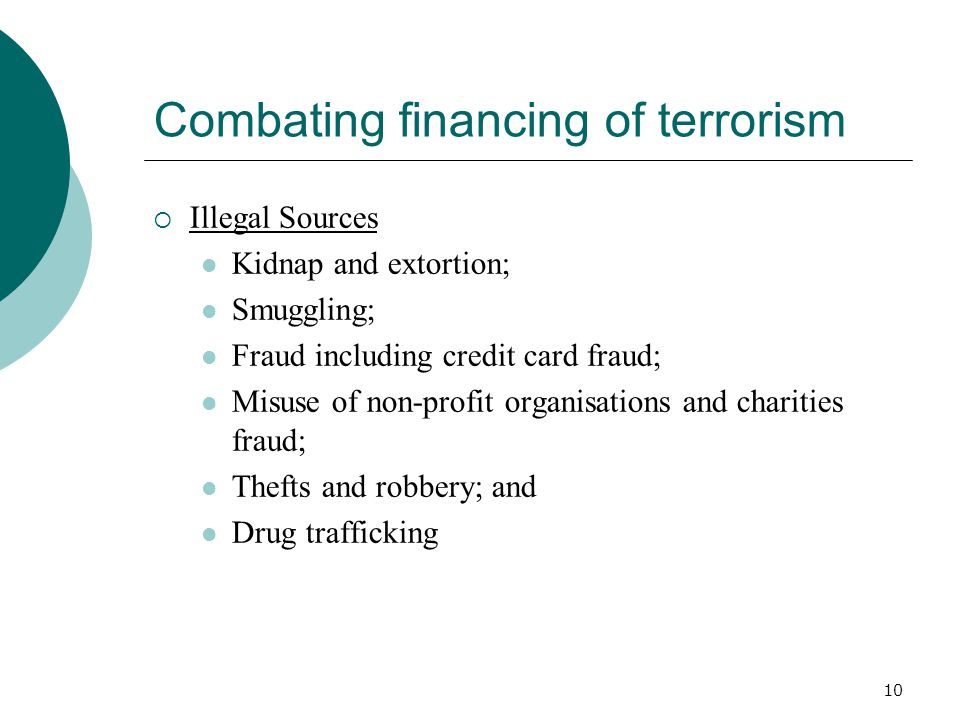 Combating financing of terrorism