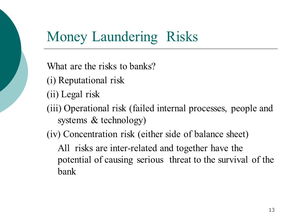 Money Laundering Risks