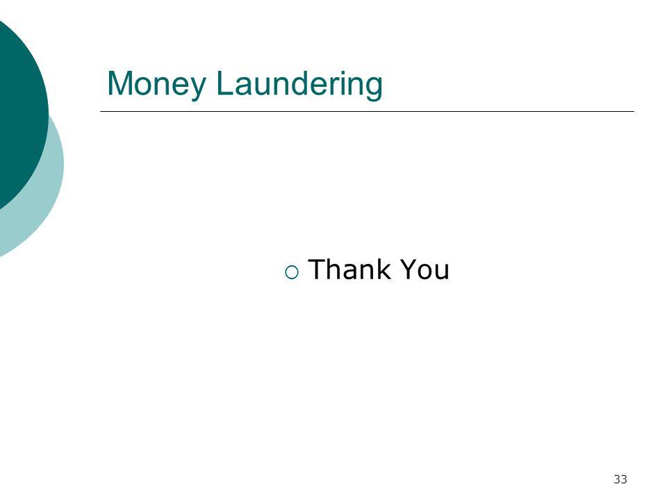 Money Laundering Thank You
