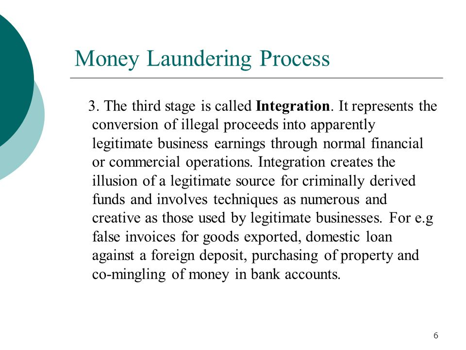 Money Laundering Process