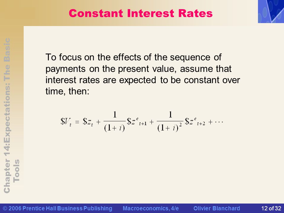 Constant Interest Rates