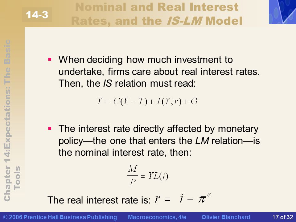 Nominal and Real Interest Rates, and the IS-LM Model