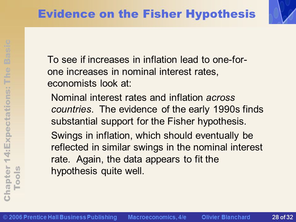 Evidence on the Fisher Hypothesis