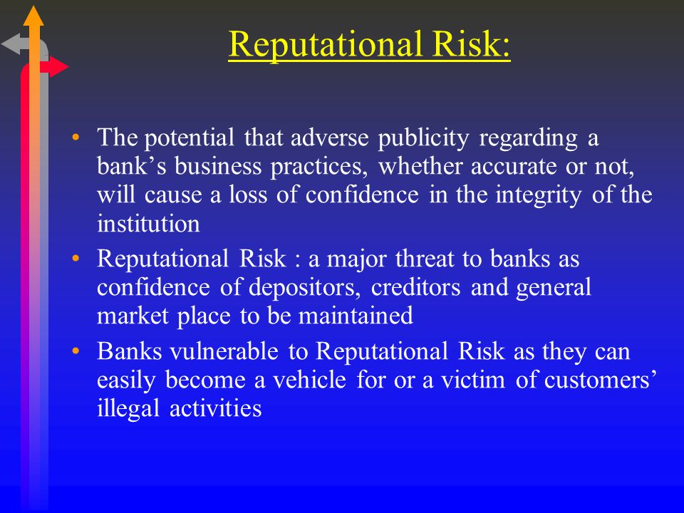 Reputational Risk: