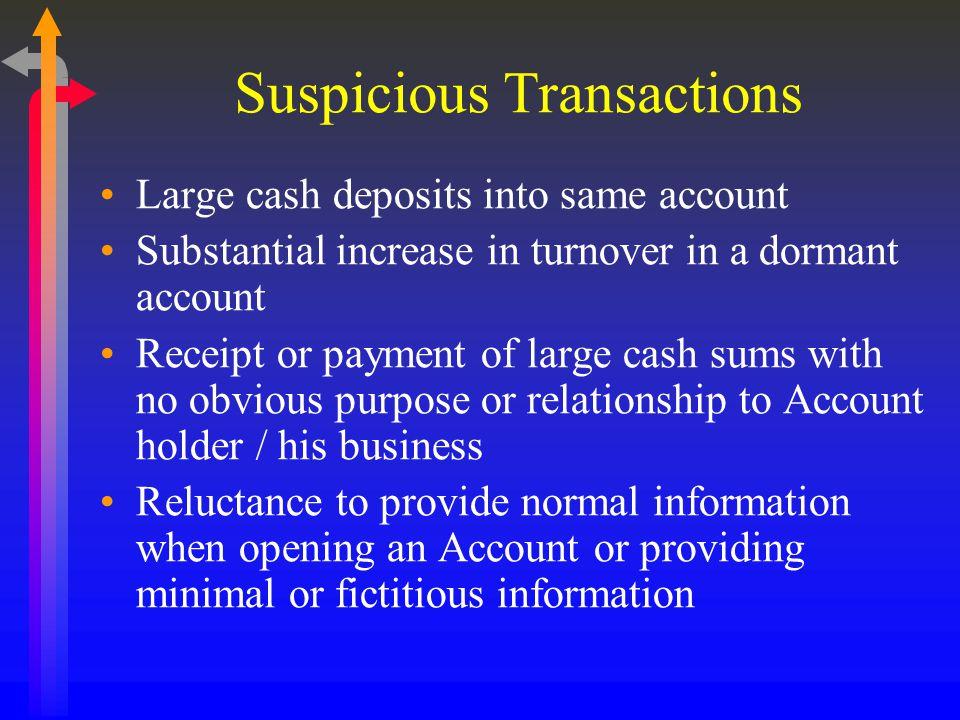 Suspicious Transactions