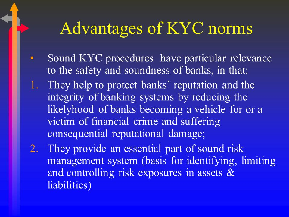 Advantages of KYC norms