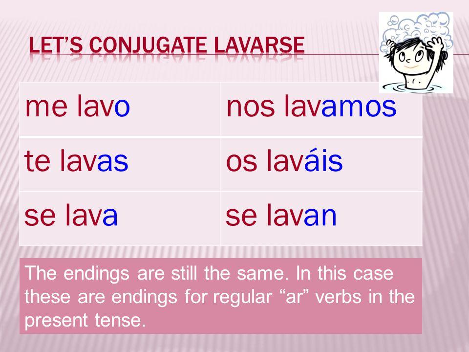 Let's conjugate Lavarse