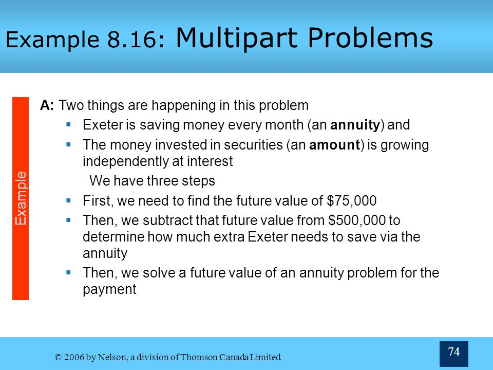 Example 8.16: Multipart Problems