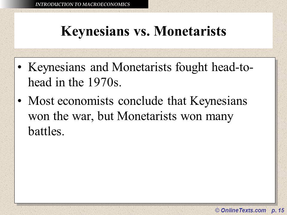 Keynesians vs. Monetarists